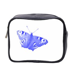 Decorative Blue Butterfly Mini Travel Toiletry Bag (Two Sides)