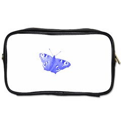 Decorative Blue Butterfly Travel Toiletry Bag (Two Sides)