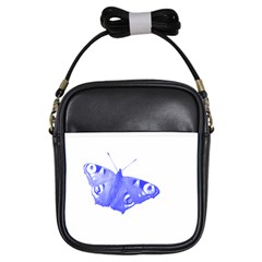 Decorative Blue Butterfly Girl s Sling Bag