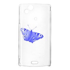 Decorative Blue Butterfly Sony Xperia Arc Hardshell Case