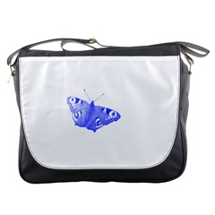 Decorative Blue Butterfly Messenger Bag