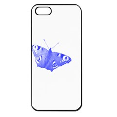 Decorative Blue Butterfly Apple iPhone 5 Seamless Case (Black)