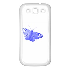 Decorative Blue Butterfly Samsung Galaxy S3 Back Case (White)
