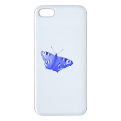 Decorative Blue Butterfly iPhone 5S Premium Hardshell Case