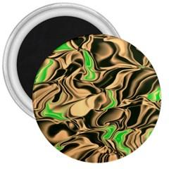 Retro Swirl 3  Button Magnet
