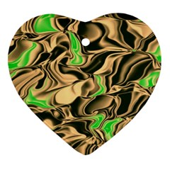 Retro Swirl Heart Ornament