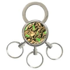 Retro Swirl 3-Ring Key Chain