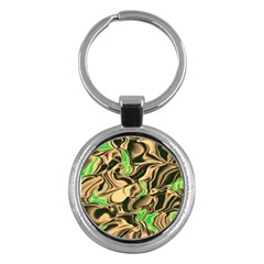 Retro Swirl Key Chain (Round)