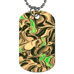 Retro Swirl Dog Tag (Two-sided)
