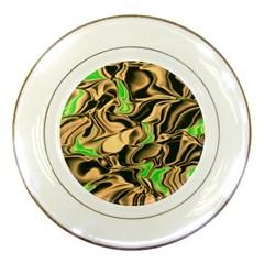 Retro Swirl Porcelain Display Plate