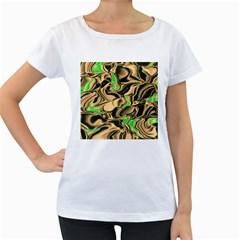 Retro Swirl Women s Maternity T-shirt (White)