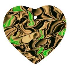 Retro Swirl Heart Ornament (Two Sides)