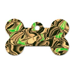 Retro Swirl Dog Tag Bone (Two Sided)