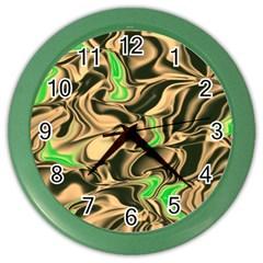Retro Swirl Wall Clock (Color)