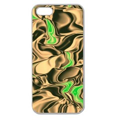 Retro Swirl Apple Seamless iPhone 5 Case (Clear)
