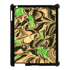 Retro Swirl Apple iPad 3/4 Case (Black)