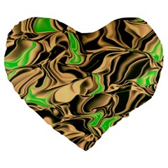 Retro Swirl 19  Premium Heart Shape Cushion