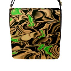 Retro Swirl Flap Closure Messenger Bag (large)