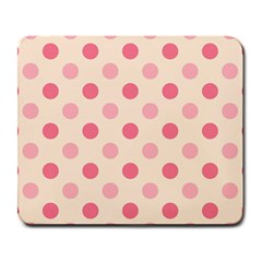 Pale Pink Polka Dots Large Mouse Pad (Rectangle)