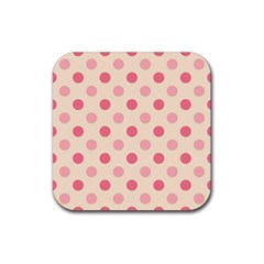 Pale Pink Polka Dots Drink Coaster (square)