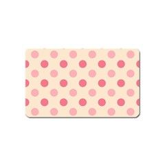 Pale Pink Polka Dots Magnet (Name Card)