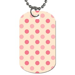 Pale Pink Polka Dots Dog Tag (One Sided)