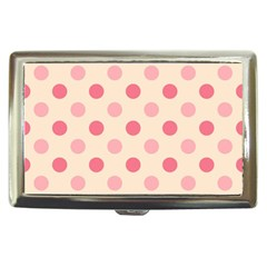 Pale Pink Polka Dots Cigarette Money Case