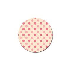 Pale Pink Polka Dots Golf Ball Marker 10 Pack