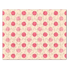 Pale Pink Polka Dots Jigsaw Puzzle (Rectangle)