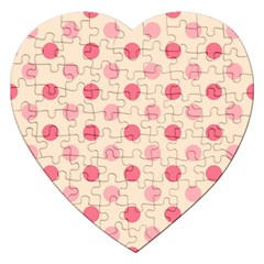 Pale Pink Polka Dots Jigsaw Puzzle (Heart)
