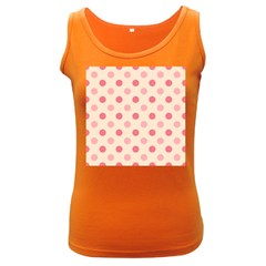 Pale Pink Polka Dots Women s Tank Top (Dark Colored)