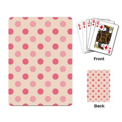 Pale Pink Polka Dots Playing Cards Single Design