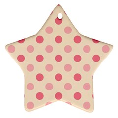 Pale Pink Polka Dots Star Ornament (Two Sides)