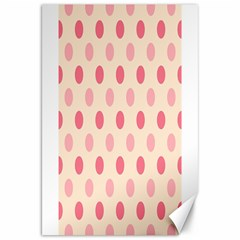 Pale Pink Polka Dots Canvas 20  x 30  (Unframed)
