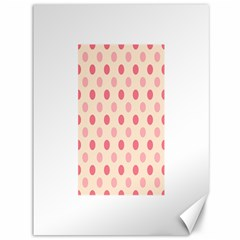 Pale Pink Polka Dots Canvas 36  x 48  (Unframed)