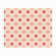 Pale Pink Polka Dots Glasses Cloth (Small, Two Sided)