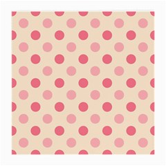 Pale Pink Polka Dots Glasses Cloth (Medium, Two Sided)