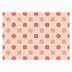 Pale Pink Polka Dots Glasses Cloth (large, Two Sided)
