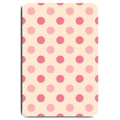 Pale Pink Polka Dots Large Door Mat