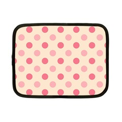 Pale Pink Polka Dots Netbook Sleeve (Small)