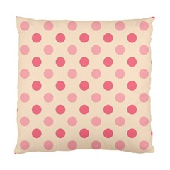 Pale Pink Polka Dots Cushion Case (Two Sided)