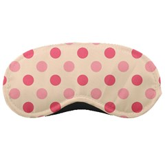 Pale Pink Polka Dots Sleeping Mask