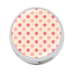 Pale Pink Polka Dots 4-Port USB Hub (One Side)