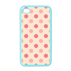 Pale Pink Polka Dots Apple Iphone 4 Case (color)