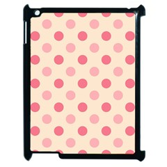 Pale Pink Polka Dots Apple iPad 2 Case (Black)
