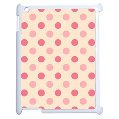 Pale Pink Polka Dots Apple iPad 2 Case (White)