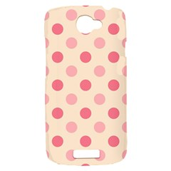 Pale Pink Polka Dots HTC One S Hardshell Case