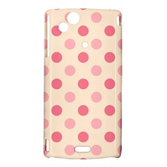 Pale Pink Polka Dots Sony Xperia Arc Hardshell Case