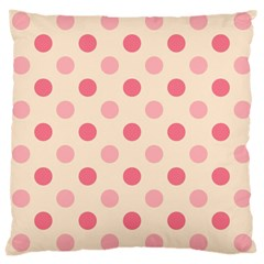 Pale Pink Polka Dots Large Cushion Case (Single Sided)