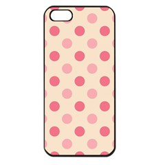 Pale Pink Polka Dots Apple iPhone 5 Seamless Case (Black)